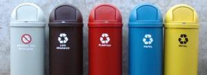 pojemniki do segregowania odpadów kolory